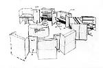 ハーマンミラー社のためのオフィス計画(BULLPEN OFFICE) 1966